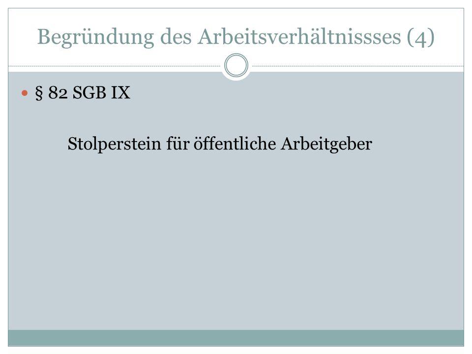 Beschäftigung schwerbehinderter Menschen § 125 SGB IX Zusatzurlaub § 124 SGB IX Freistellung von Mehrarbeit § 81 Abs.