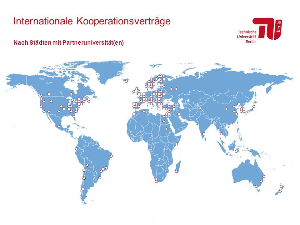 Internationale Kooperationsverträge Nach Städten mit Partneruniversität(en)