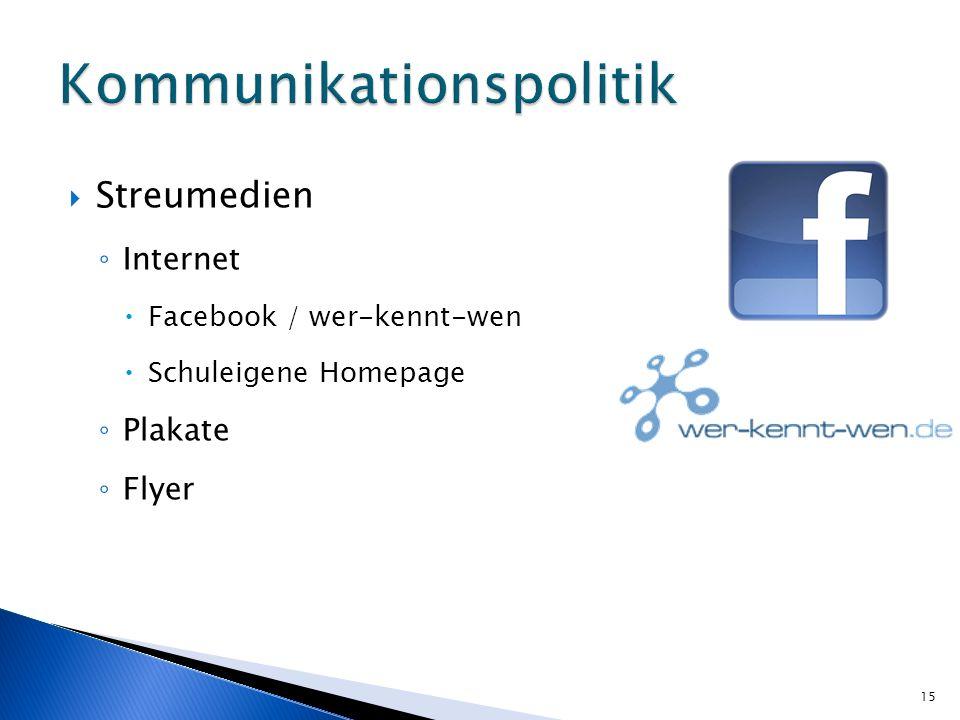 Streumedien Internet Facebook / wer-kennt-wen Schuleigene Homepage Plakate Flyer 15