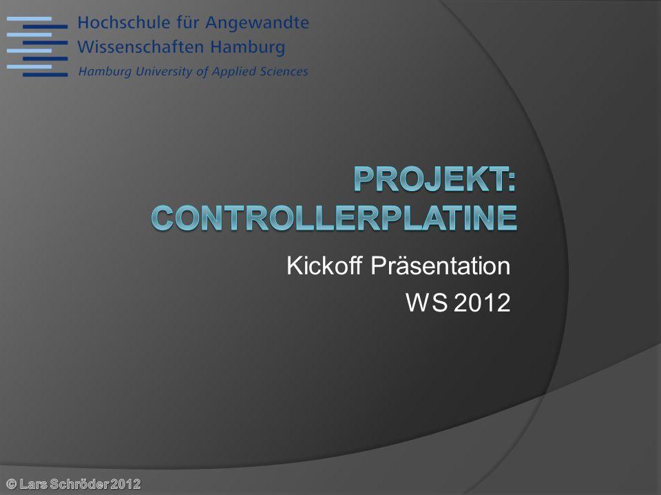 Kickoff Präsentation WS 2012