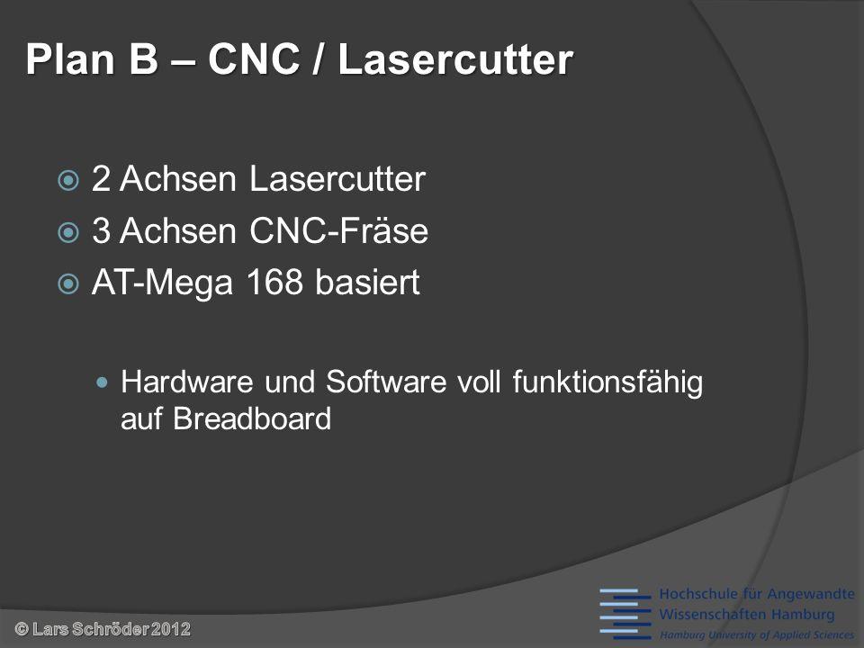 2 Achsen Lasercutter 3 Achsen CNC-Fräse AT-Mega 168 basiert Hardware und Software voll funktionsfähig auf Breadboard Plan B – CNC / Lasercutter