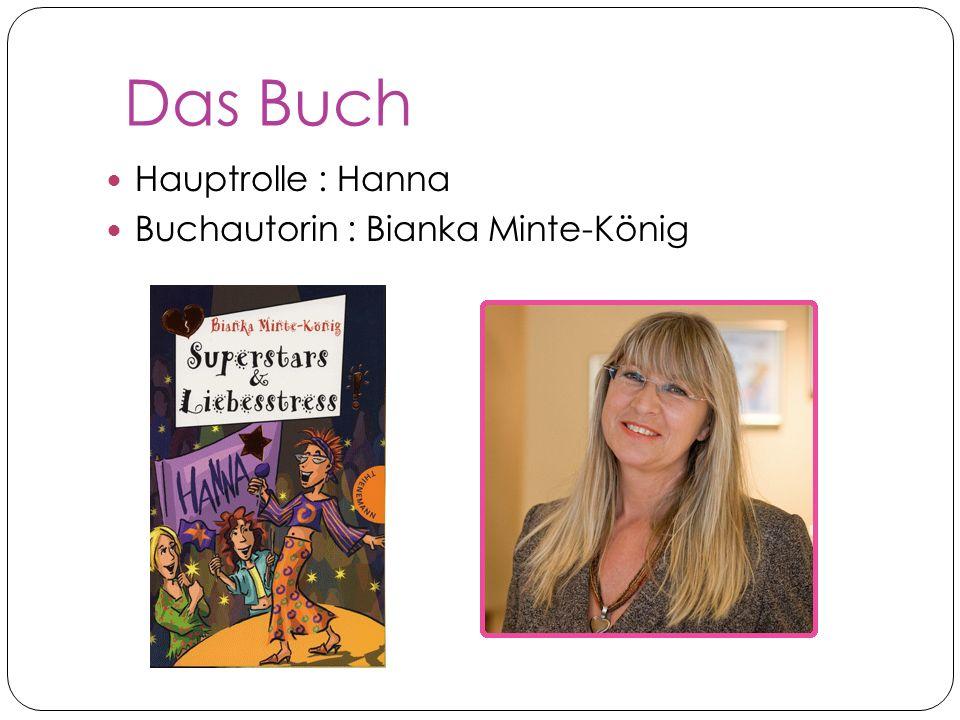 Das Buch Hauptrolle : Hanna Buchautorin : Bianka Minte-König