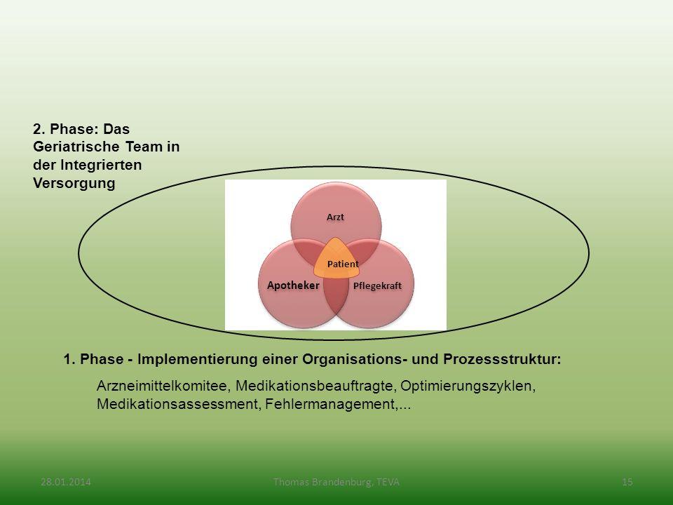 1. Phase - Implementierung einer Organisations- und Prozessstruktur: Arzneimittelkomitee, Medikationsbeauftragte, Optimierungszyklen, Medikationsasses