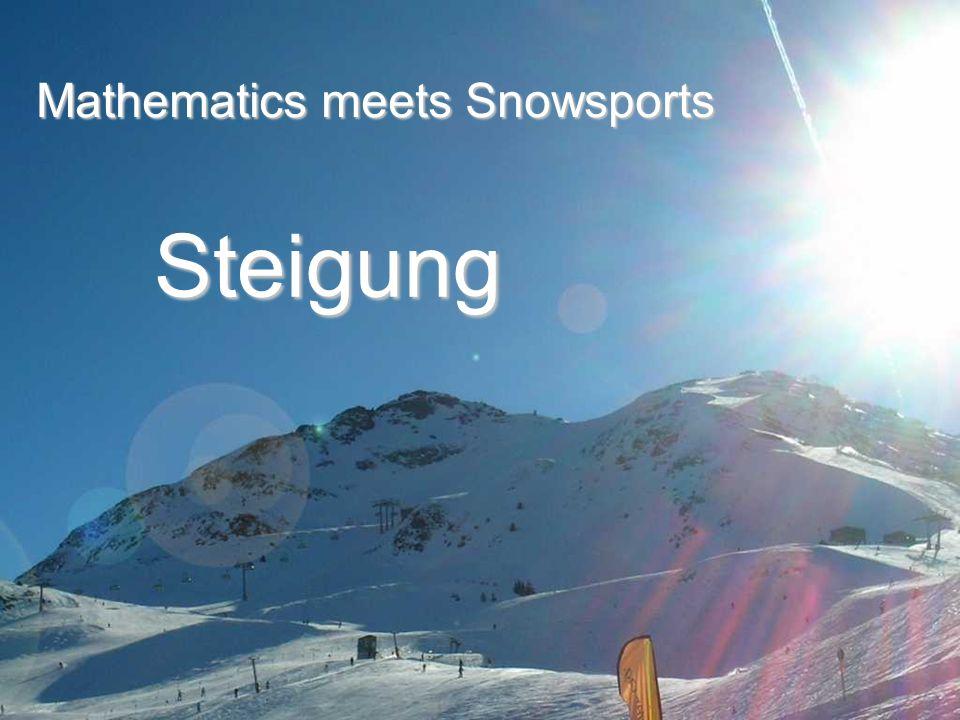 Steigung Mathematics meets Snowsports