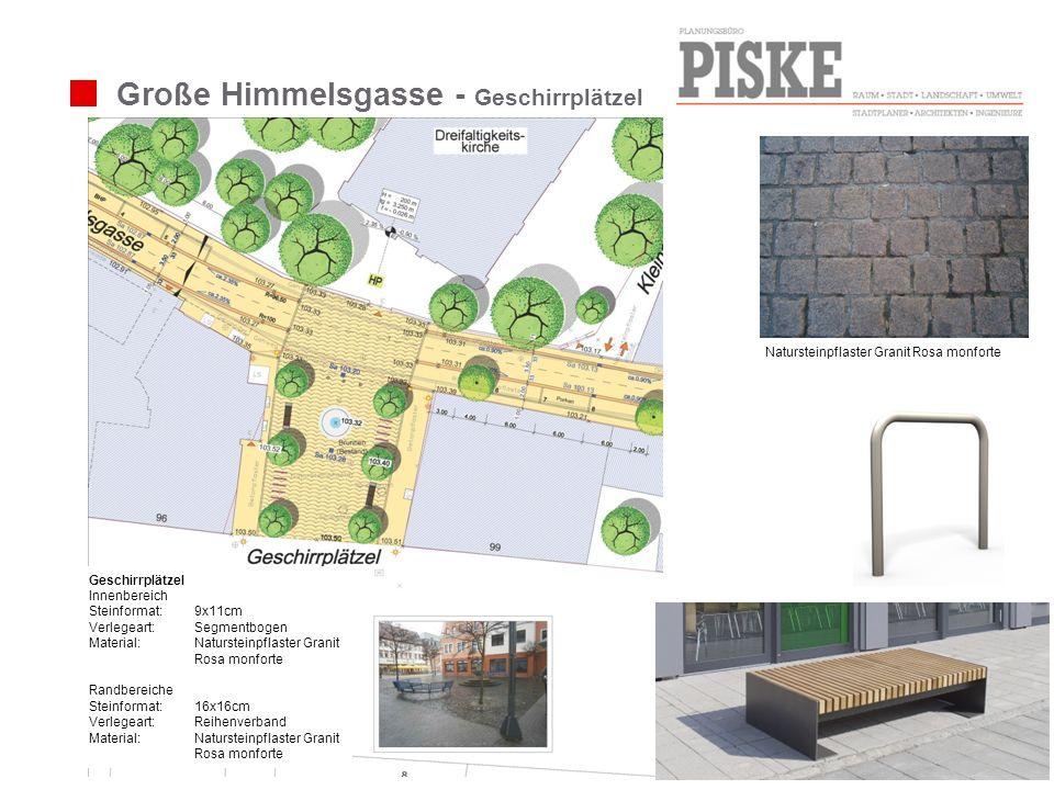 Große Himmelsgasse - Geschirrplätzel Geschirrplätzel Innenbereich Steinformat:9x11cm Verlegeart: Segmentbogen Material:Natursteinpflaster Granit Rosa