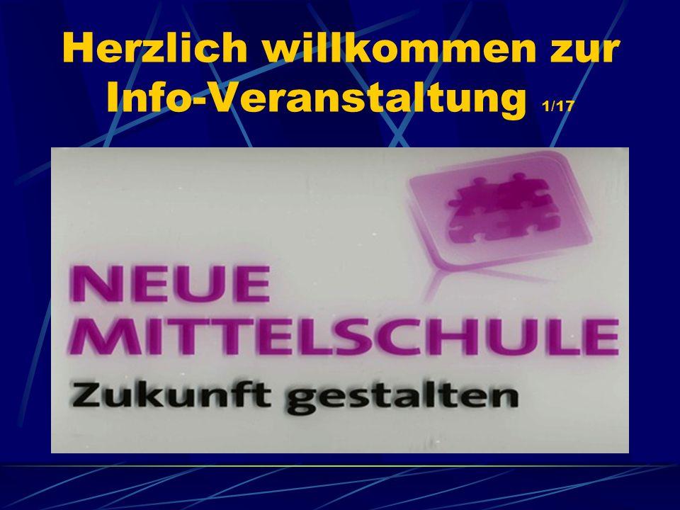 Herzlich willkommen zur Info-Veranstaltung 1/17