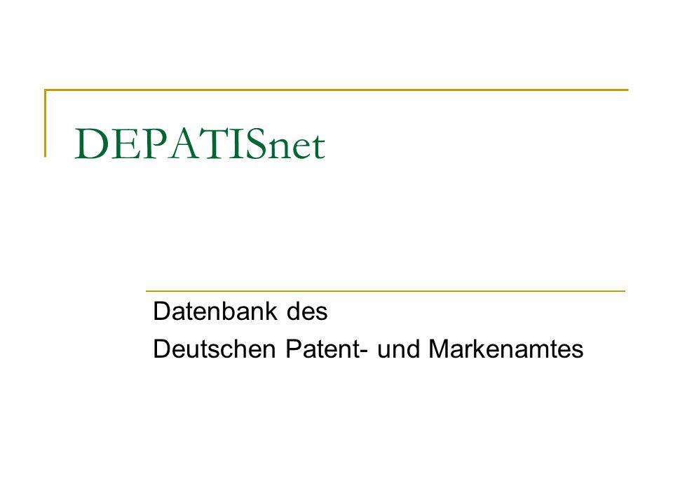DEPATISnet Datenbank des Deutschen Patent- und Markenamtes