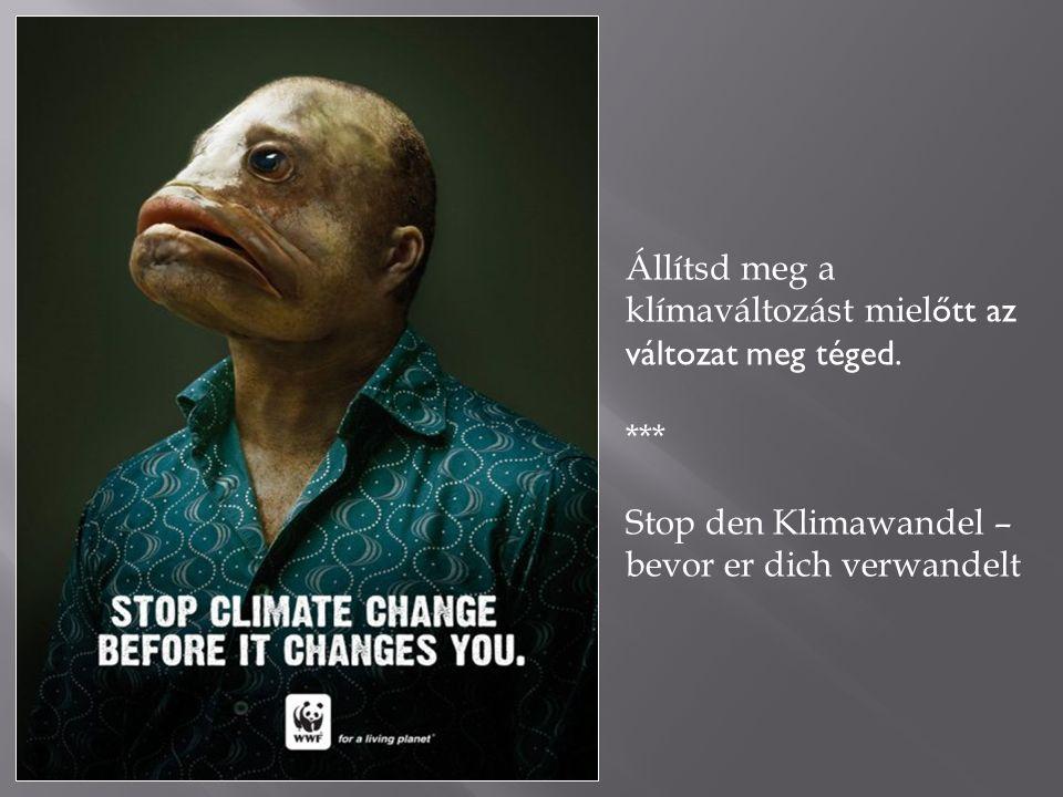 Állítsd meg a klímaváltozást miel őtt az változat meg téged.