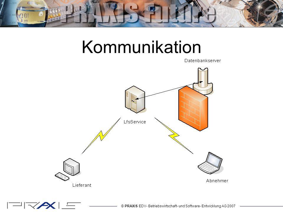 © PRAXIS EDV- Betriebswirtschaft- und Software- Entwicklung AG 2007 Authentifizierung Wer ist es, und ist er es.