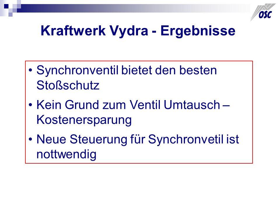 Kraftwerk Vydra - Ergebnisse Synchronventil bietet den besten Stoßschutz Kein Grund zum Ventil Umtausch – Kostenersparung Neue Steuerung für Synchronv