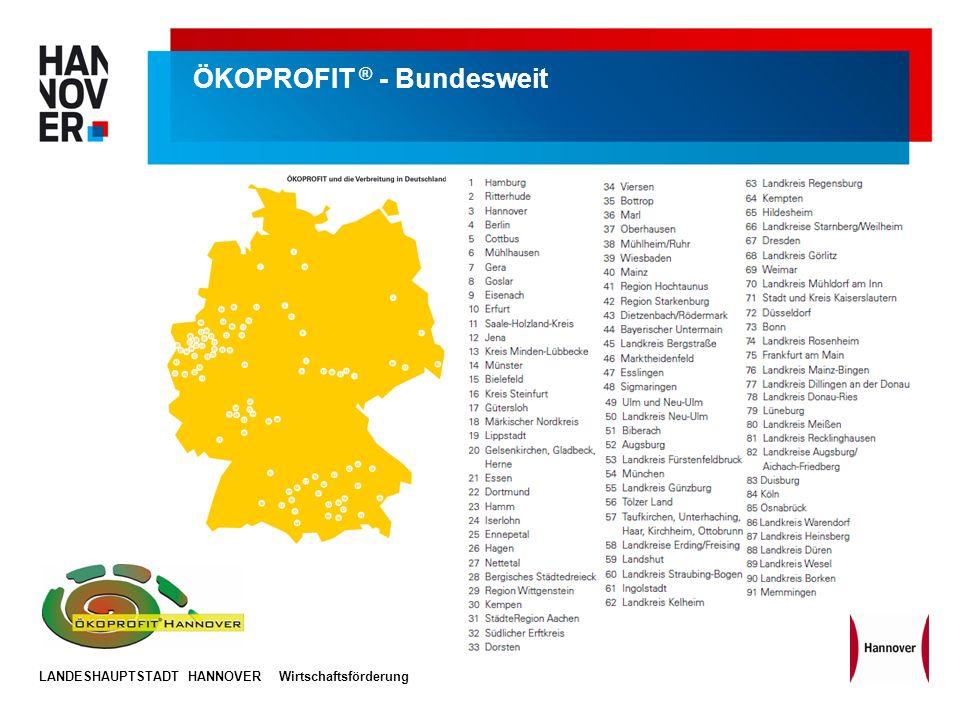 LANDESHAUPTSTADT HANNOVERWirtschaftsförderung ÖKOPROFIT ® - Bundesweit