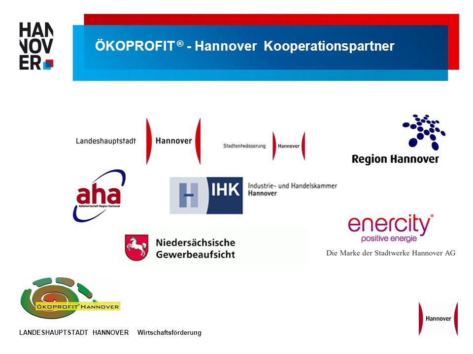 LANDESHAUPTSTADT HANNOVERWirtschaftsförderung ÖKOPROFIT ® - Hannover Kooperationspartner