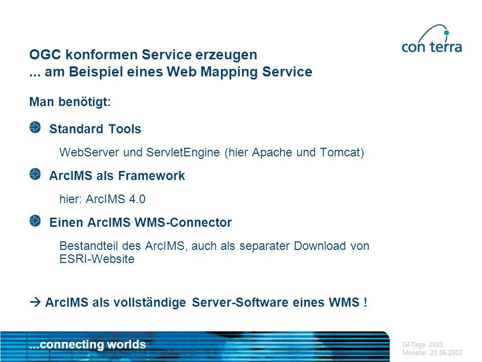 ...connecting worlds GDI Workshop Ilmenau, 07.05.2003 Vielen Dank für Ihre Aufmerksamkeit .