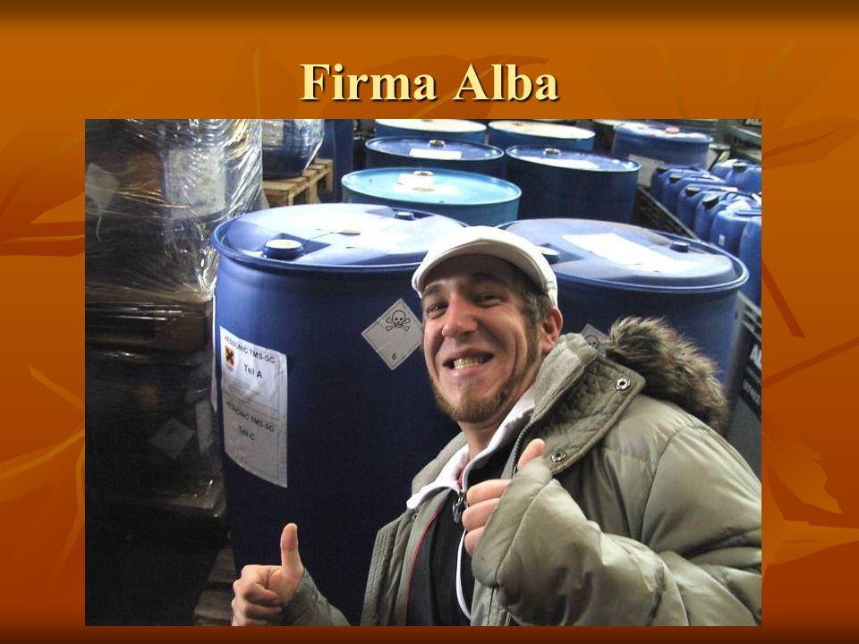 Firma Alba Die verschiedensten Chemikalien Beladung eines Transporters mit verschiedenen Chemikalien WICHTIG
