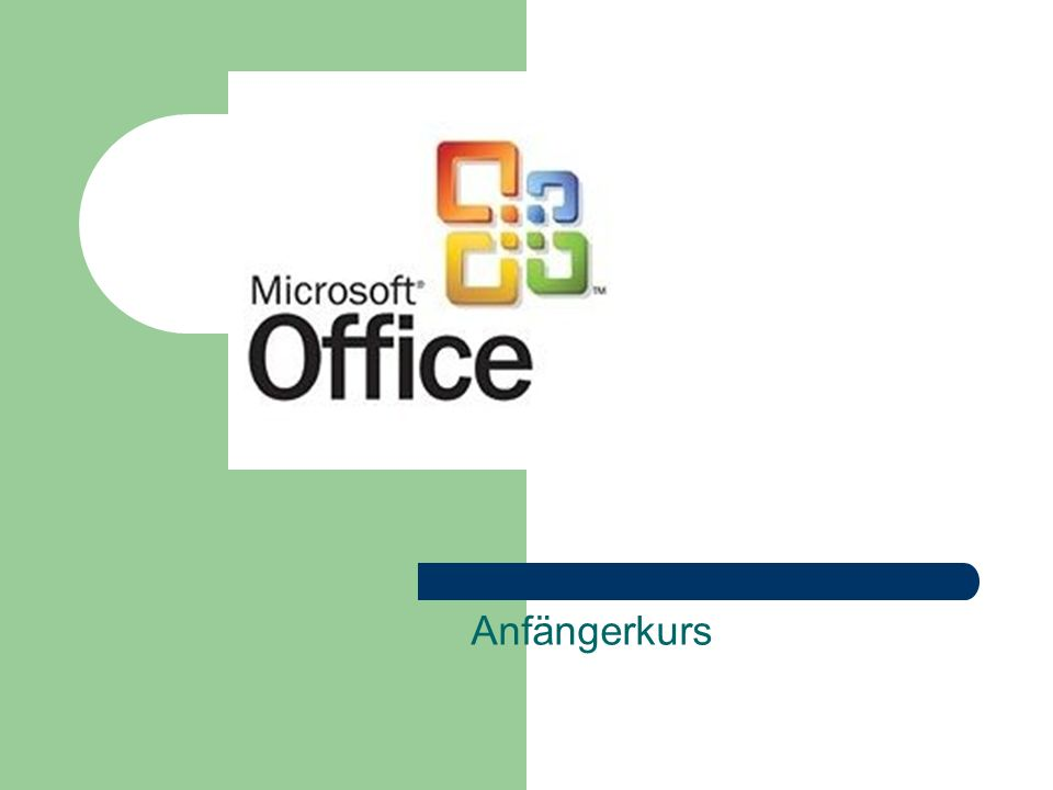 Komponenten Microsoft Word 2003 Microsoft Excel 2003 Microsoft PowerPoint 2003 Microsoft Outlook 2003
