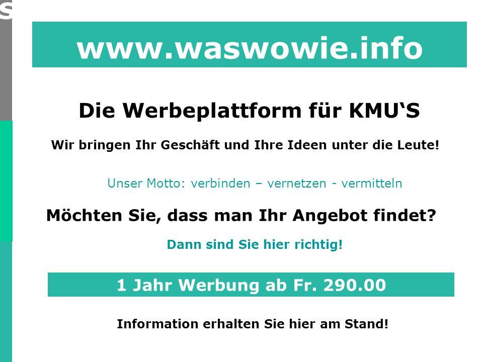 www.waswowie.info Wir bringen Ihr Geschäft und Ihre Ideen unter die Leute.