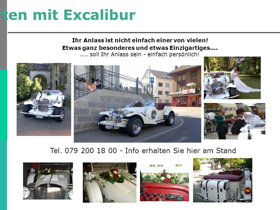 Hochzeitsfahrten mit Excalibur Ihr Anlass ist nicht einfach einer von vielen.