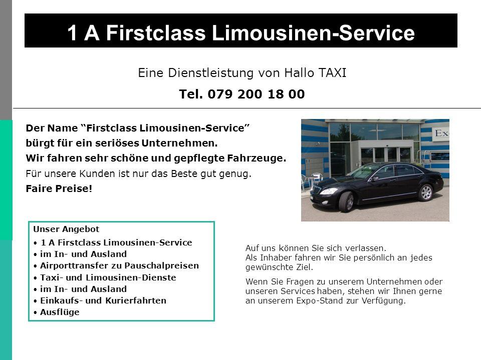 Eine Dienstleistung von Hallo TAXI Tel.