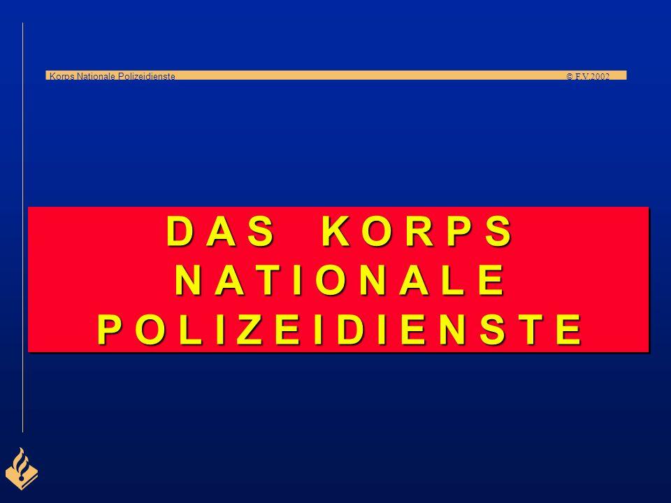 Korps Nationale Polizeidienste © F.V.2002 Die Struktur der Organisation wird bestimmt von den regionalen Polizeibehörden. SONDERABTEILUNG Regionale kr