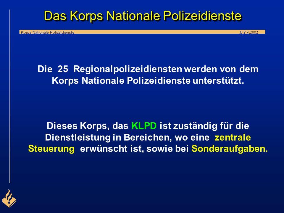 Korps Nationale Polizeidienste © F.V.2002 D A S K O R P S N A T I O N A L E P O L I Z E I D I E N S T E