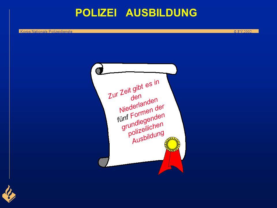 Korps Nationale Polizeidienste © F.V.2002 P O L I Z E I A U S B I L D U N G