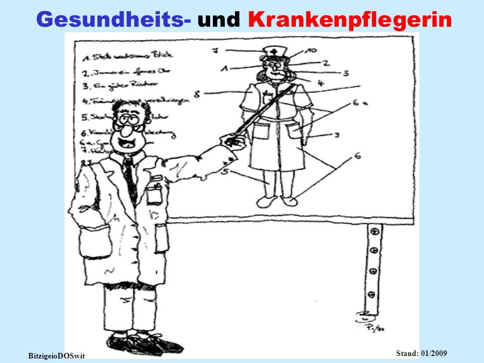 Gesundheits- und Krankenpflegerin BitzigeioDOSwit Stand: 01/2009