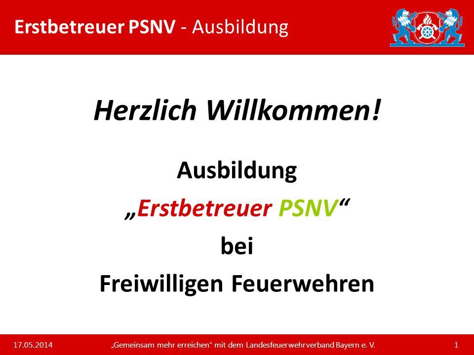 Unsere Arbeit und unsere Leistungen für die bayerischen Feuerwehren Erstbetreuer PSNV - Begriffsklärungen III Einsatzstichworte für die Alarmierung eines Kriseninterventionsdienstes bzw.