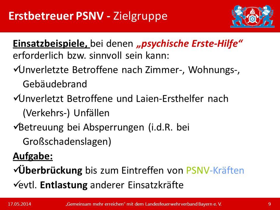 Unsere Arbeit und unsere Leistungen für die bayerischen Feuerwehren Erstbetreuer PSNV – ASFASI – Regel 6 Grundsätze 3.
