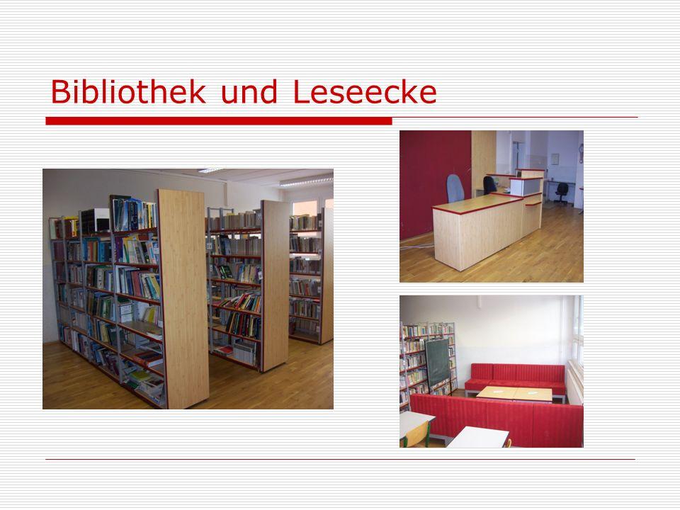 Bibliothek und Leseecke
