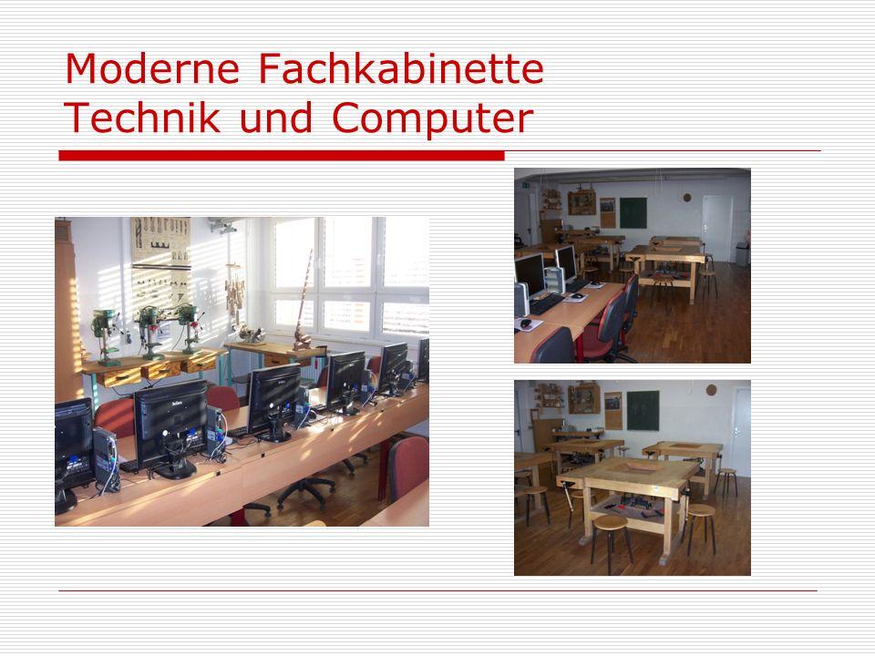 Moderne Fachkabinette Technik und Computer