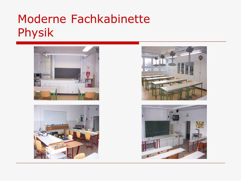 Moderne Fachkabinette Physik