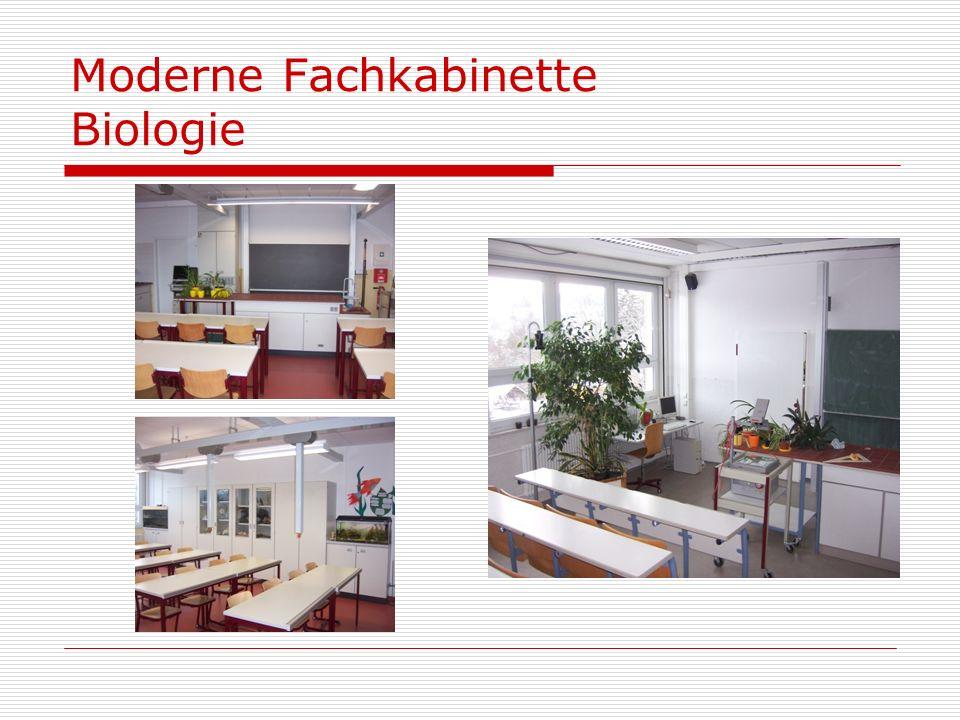 Moderne Fachkabinette Biologie