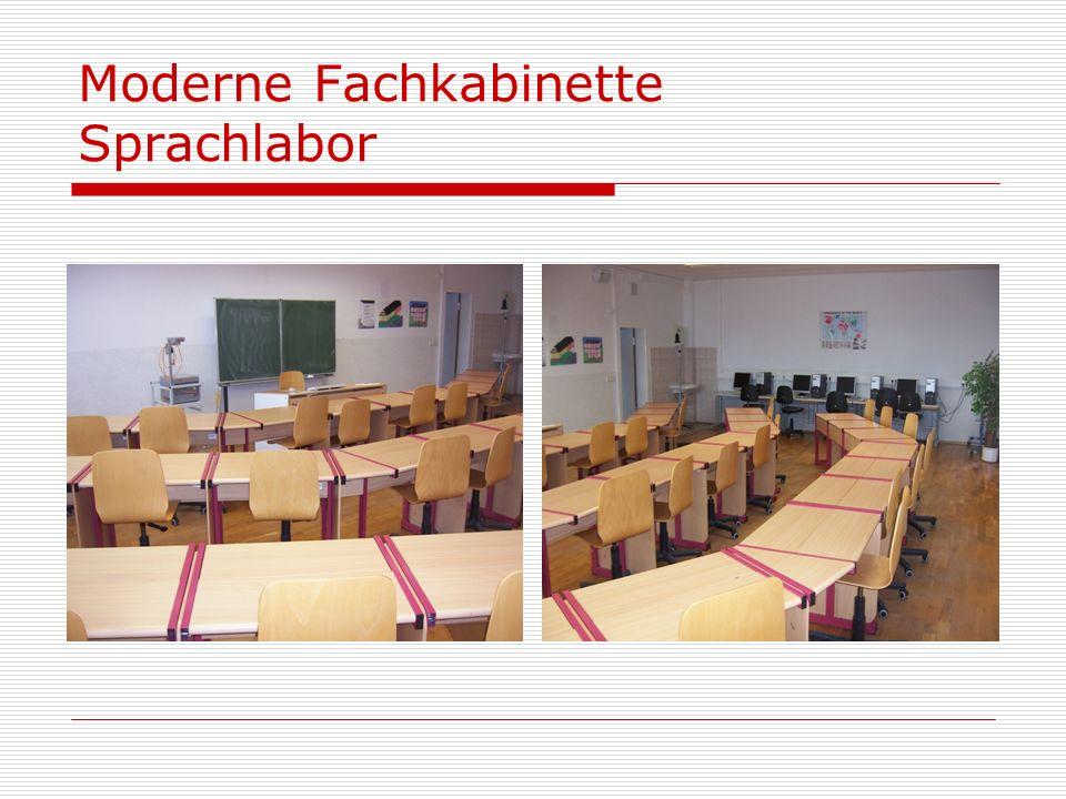 Moderne Fachkabinette Sprachlabor
