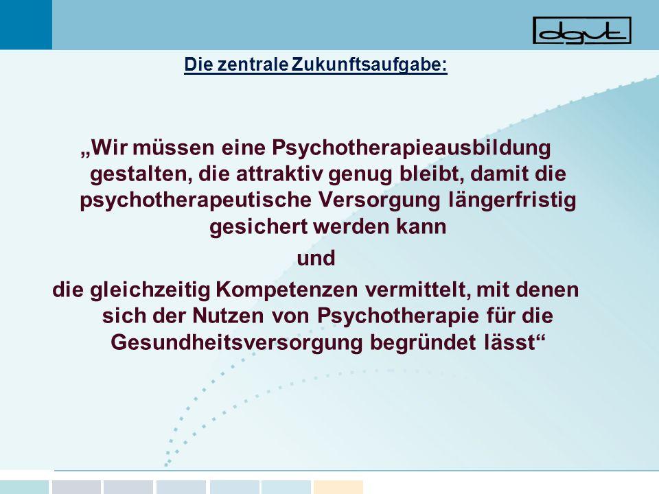 Die zentrale Zukunftsaufgabe: Wir müssen eine Psychotherapieausbildung gestalten, die attraktiv genug bleibt, damit die psychotherapeutische Versorgun