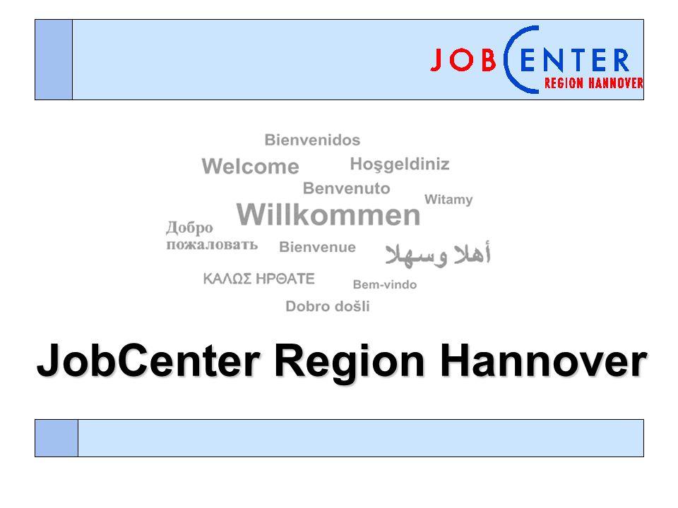 Ausgangslage der JobCenter Region Hannover In der Region Hannover sind derzeit rund 112.000 Menschen in ca.