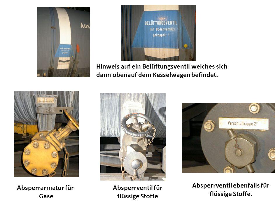Absperrarmatur für Gase Absperrventil für flüssige Stoffe Absperrventil ebenfalls für flüssige Stoffe. Hinweis auf ein Belüftungsventil welches sich d