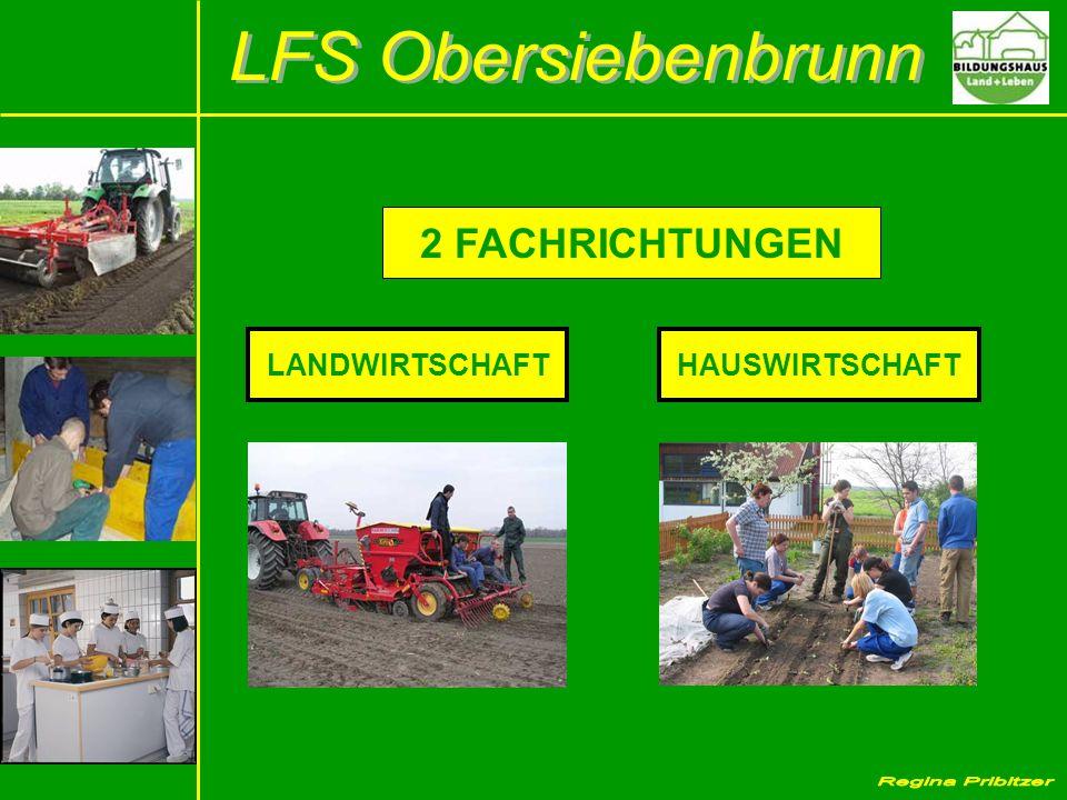 LANDWIRTSCHAFTHAUSWIRTSCHAFT 2 FACHRICHTUNGEN