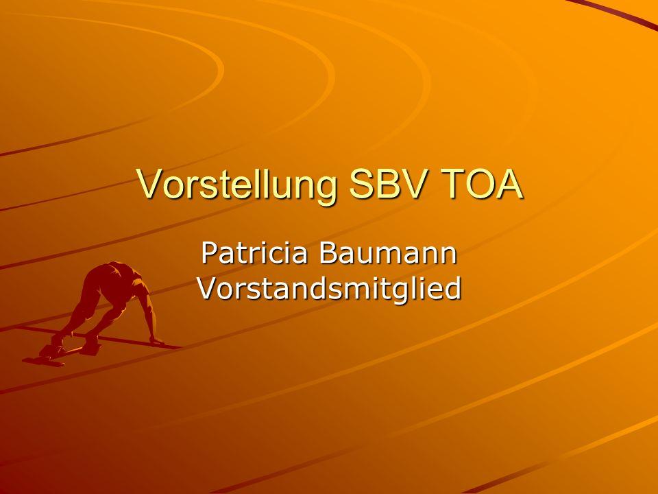 Vorstellung SBV TOA Patricia Baumann Vorstandsmitglied