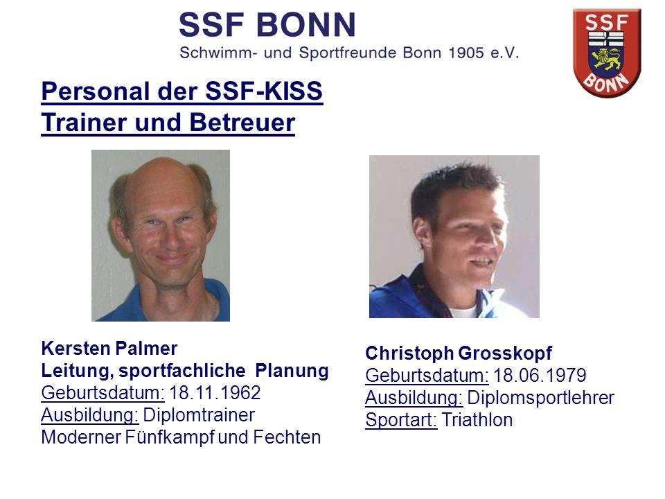Christoph Grosskopf Geburtsdatum: 18.06.1979 Ausbildung: Diplomsportlehrer Sportart: Triathlon Kersten Palmer Leitung, sportfachliche Planung Geburtsd