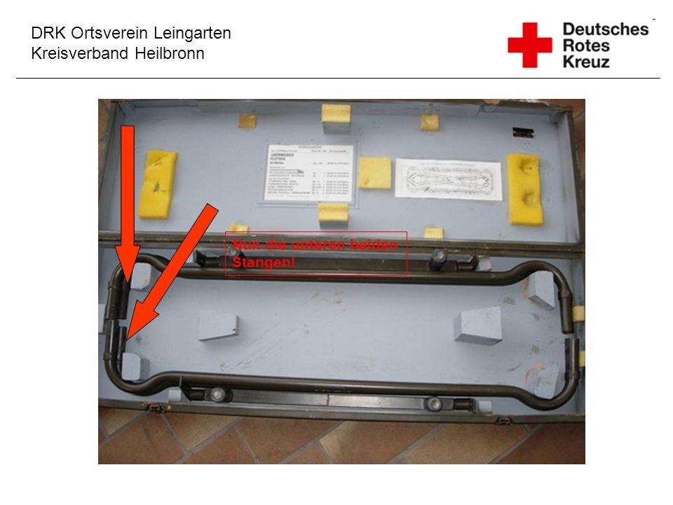 DRK Ortsverein Leingarten Kreisverband Heilbronn Nun die unteren beiden Stangen!