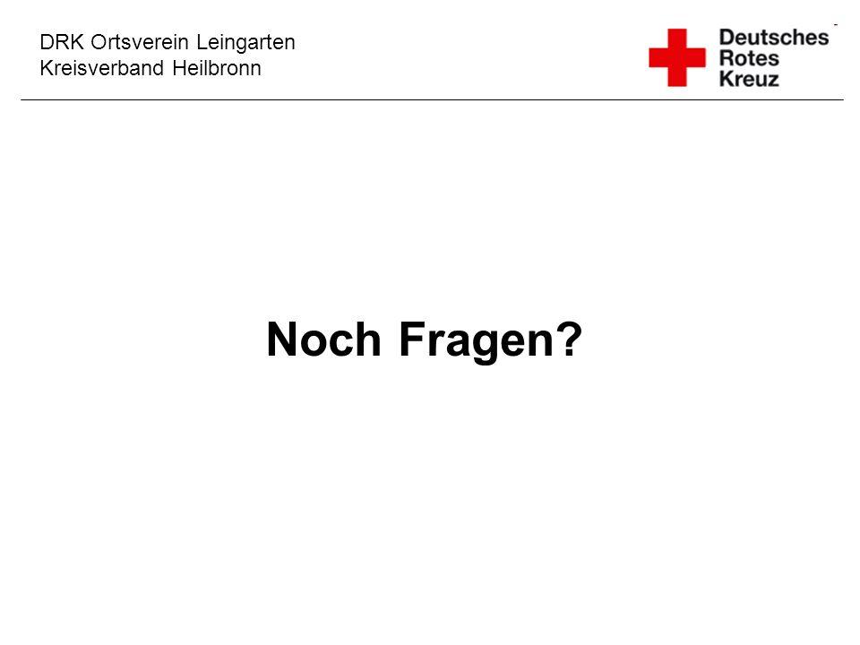 DRK Ortsverein Leingarten Kreisverband Heilbronn Noch Fragen?