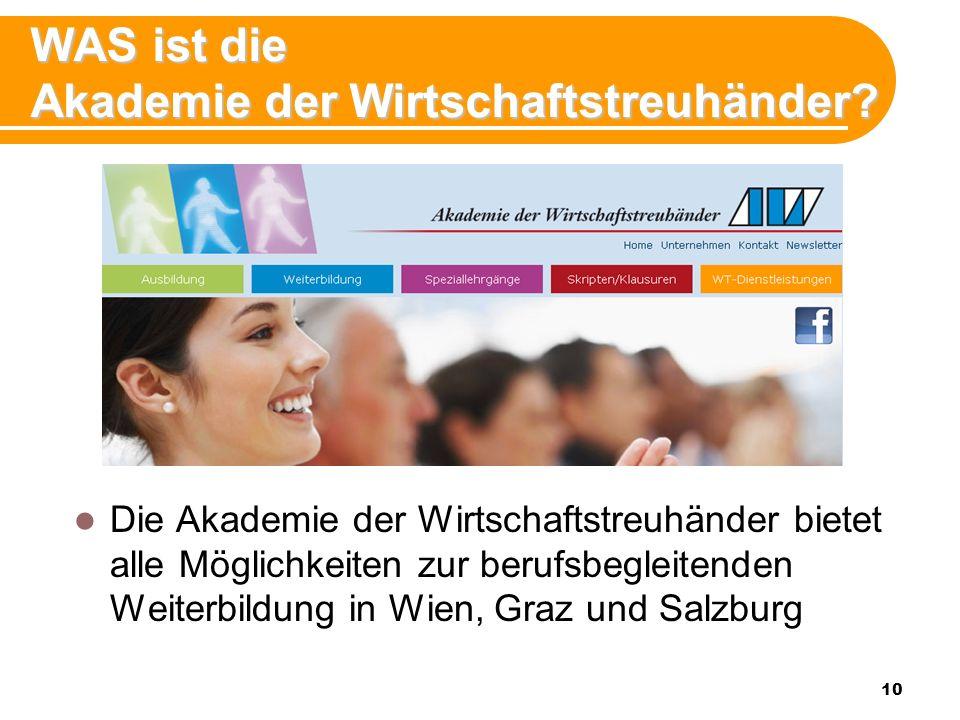 10 WAS ist die Akademie der Wirtschaftstreuhänder.