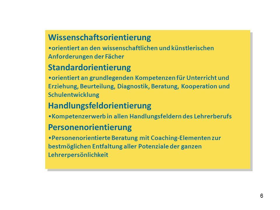 7 Grundgedanken Kern des Referendariats sind diejenigen Ausbildungselemente, die reflexionsbezogene Handlungskompetenzen fördern.