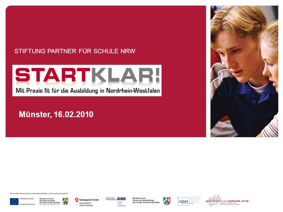 Münster, 8.12.2009 Inhaltsverzeichnis Ziele des Vorhabens STARTKLAR Vorhabensbeschreibung Grundmodell STARTKLAR Förderangebote im Überblick Arbeitsstruktur des Projektes