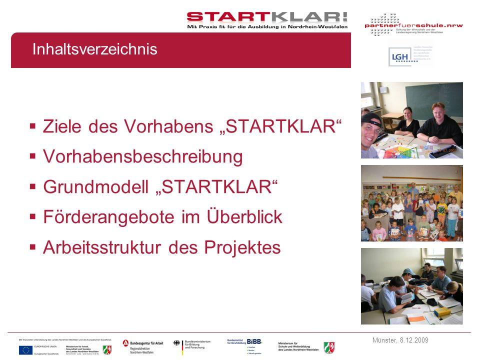 Münster, 8.12.2009 Partner im Projekt Projektpartner: Projektumsetzung: