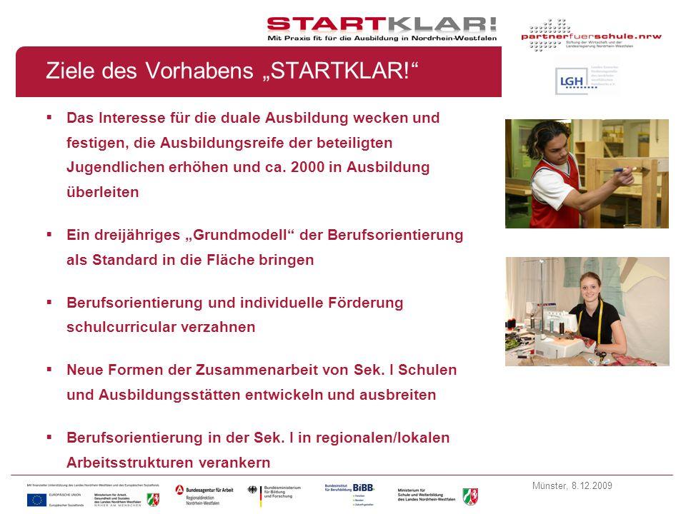 Münster, 8.12.2009 Vorhabensbeschreibung STARTKLAR.