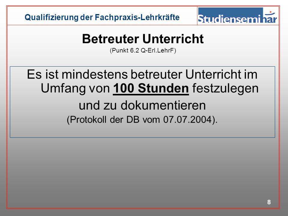Qualifizierung der Fachpraxis-Lehrkräfte 7 Fachdidaktikgruppen Bautechnik Farb- und Raum- gestaltung Elektrotechnik Metalltechnik Ernährung Hauswirtsc