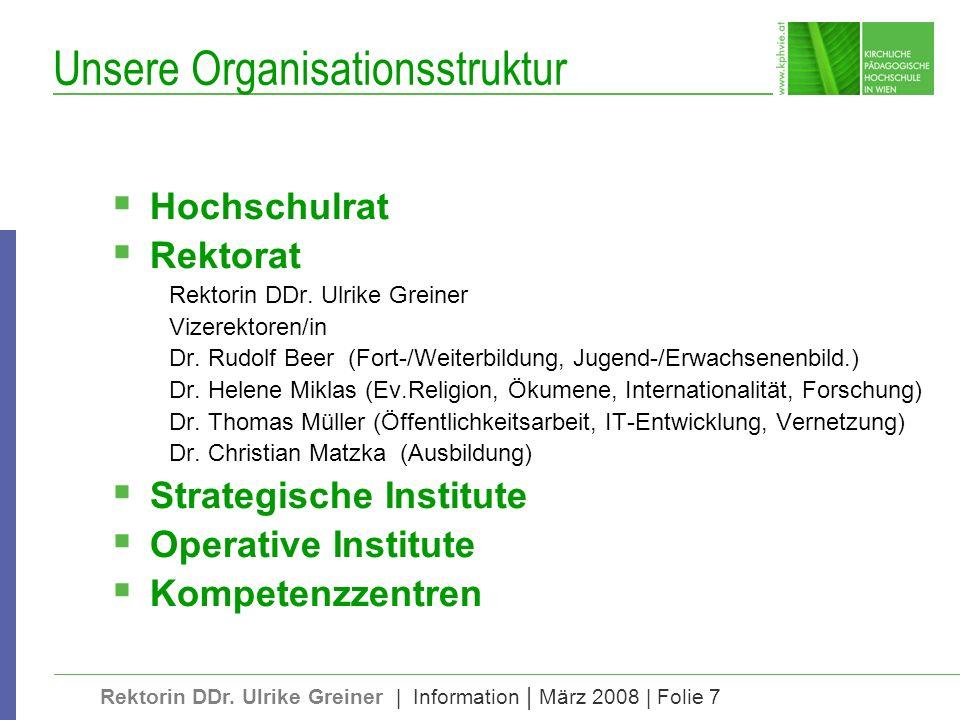 Rektorin DDr.Ulrike Greiner | Information | März 2008 | Folie 28 Das Christliche an einer KPH 1.