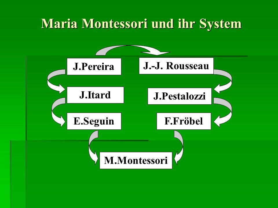 Maria Montessori und ihr System J.Pereira J.-J.