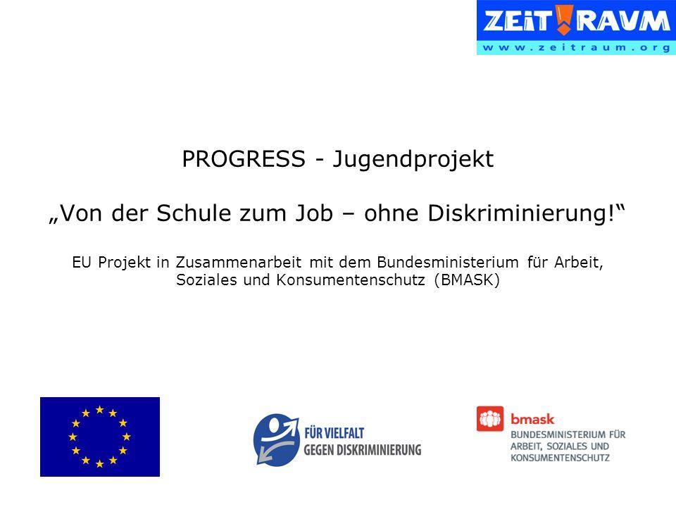 PROGRESS - Jugendprojekt Von der Schule zum Job – ohne Diskriminierung.